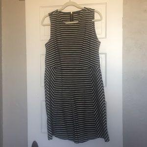 J. Crew Striped Sleeveless Dress